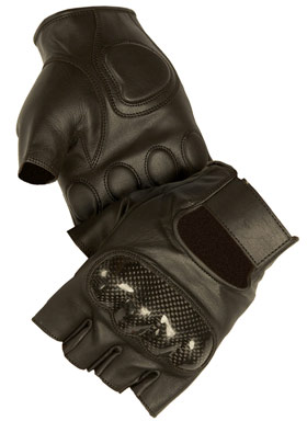 Motorcycle Gloves Deerskin Fingerless
