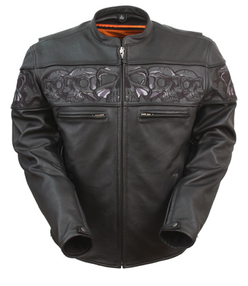 Mens Crossover Scooter Jacket with Skulls