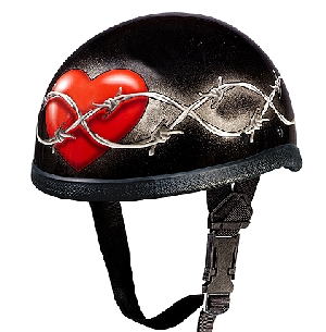 Barbed Wire Heart Eagle Helmet