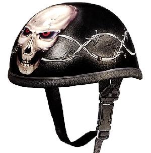 Barbed Wire Skull Novelty Helmet