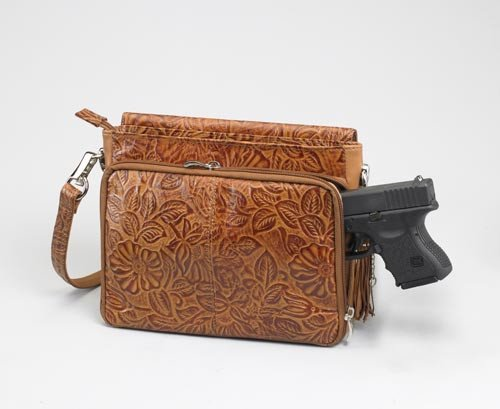 GTM/TAN-22 Tooled Americian Cowhide (Tan)