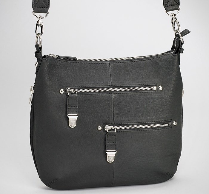 GTM/BLK-23 Chrome Zip Handbag