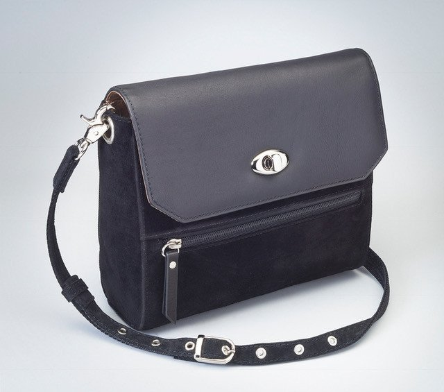 GTM/BLK-87 SUEDE HAND CLUTCH