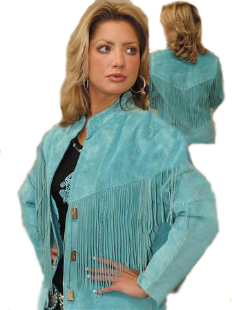 Scully Ladies Suede Fringe Jacket
