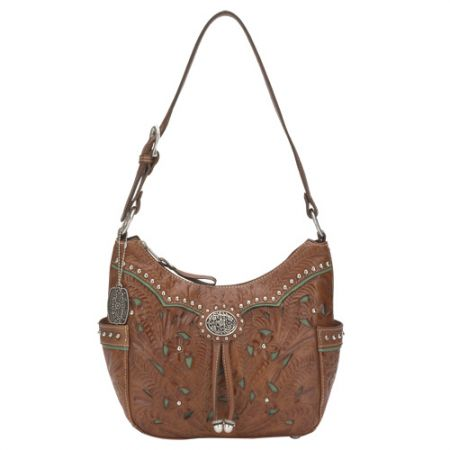 American West Lady Lace Zip-Top Hobo Bag