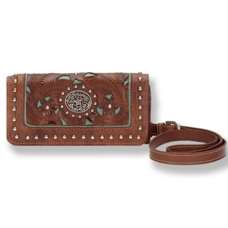 American West Lady Lace Wallet/Hipster with Removable Strap