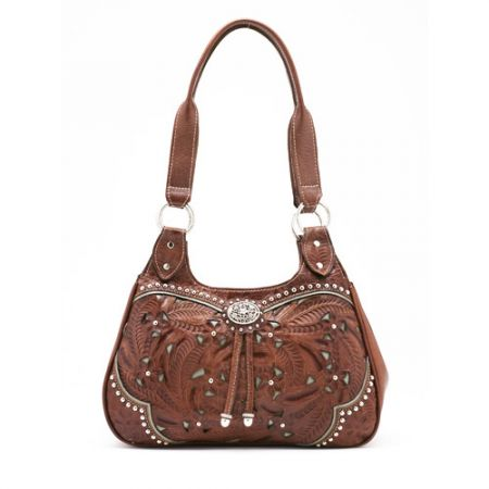 American West Three Compartment Lady Lace Scoop Tote