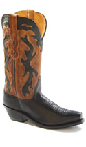 Old West Black/ Tan Canyon Boot