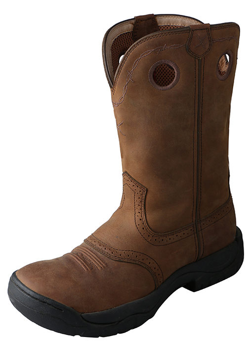 Mens Distressed Saddle / Distressed Twisted X All Around Boot