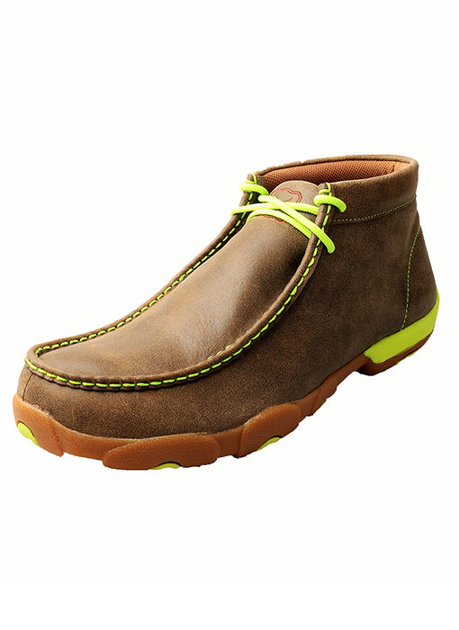 Men's Driving Moccasins – Bomber/Neon Yellow