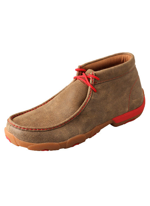 Men's Driving Moccasins – Bomber/Red