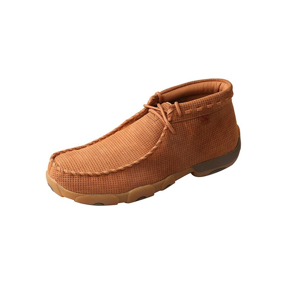 Mens Mocs Chukka Leather Saddle