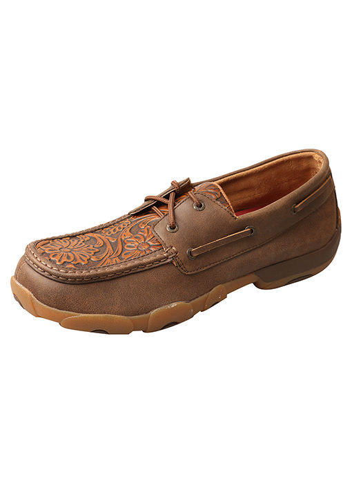 Men's Driving Moccasins – Tawny/Tan Tooled