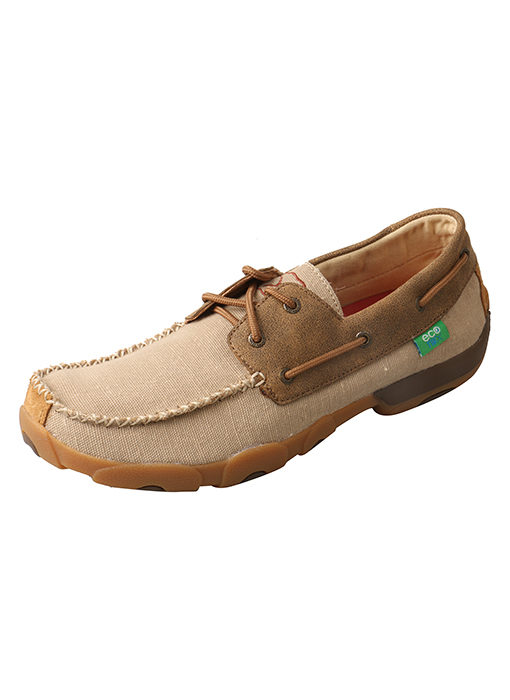 Men's Driving Moc Boat Shoe – Khaki/Bomber