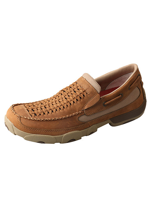 Men's Slip-on Driving Moccasins – Distressed Saddle