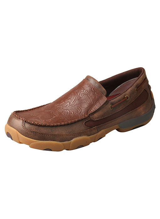 Men's Slip-On Driving Moccasins – Brown/Cognac