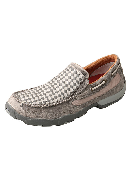 Men's Driving Moc Slip On – Woven Grey