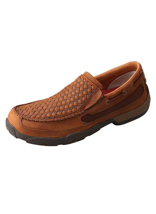 Men's Slip-On Driving Moc Oiled Saddle/Brown