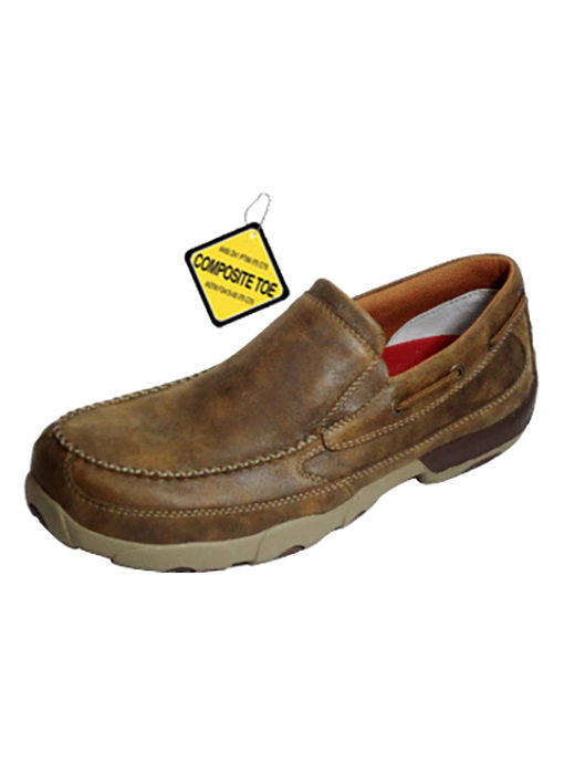 Men's Slip-on Driving Moccasins – Bomber – Composite Toe