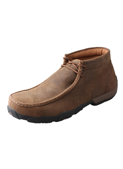 Men's Driving Moccasins – Distressed Saddle – Waterproof
