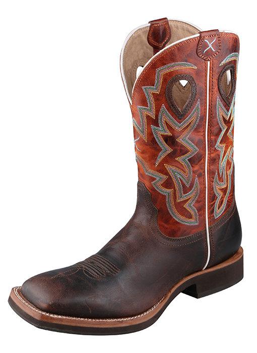Men's Horseman Boot – Chocolate/Orange