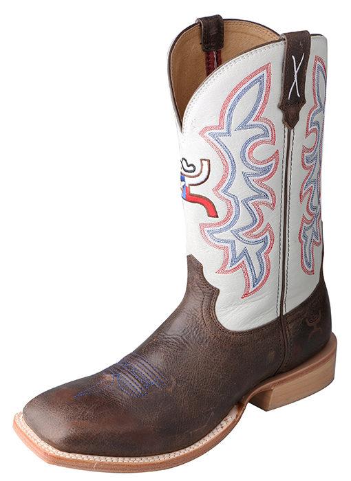 Men's Hooey Boot – Brown/White