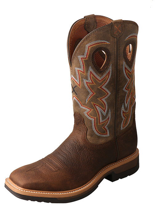 Men's Lite Cowboy Workboot – Taupe/Bomber – Alloy Toe