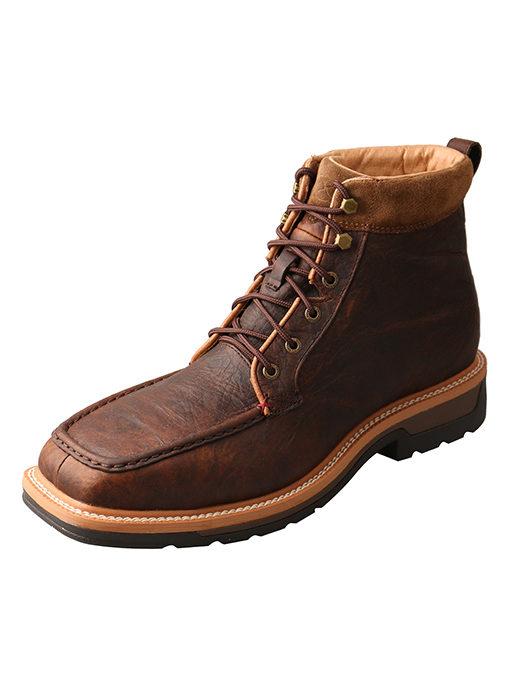 Men's Lite Cowboy Workboot – Dark Brown – Alloy Toe