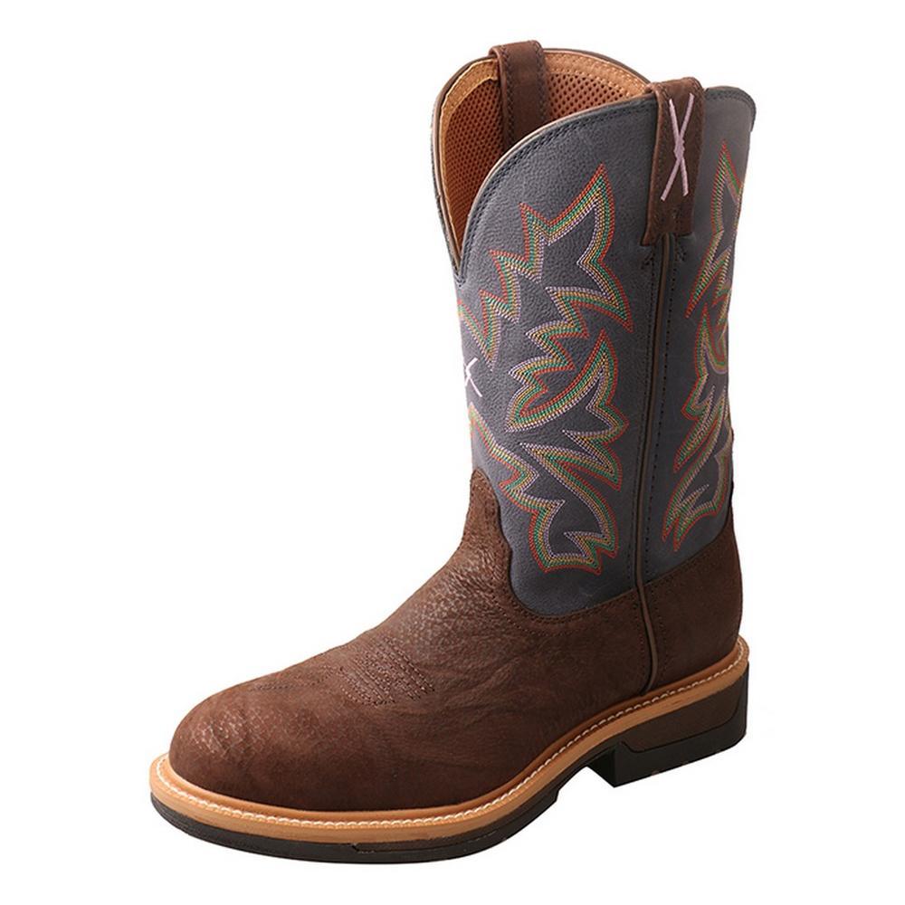 Mens Lite Cowboy Composite Toe Pull Dark Blue