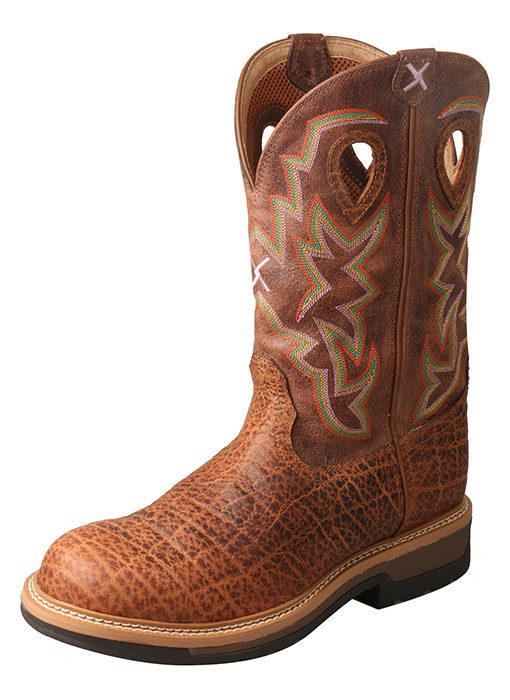 Men's Lite Cowboy Workboot – Tan Elephant Print/Tan – Composite Toe