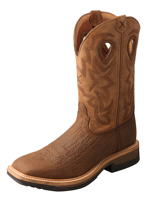 Men's Comp Toe Lite Western Work Boot – WP Dark Brown/Tan