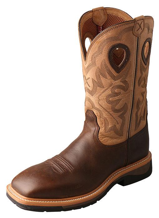 Men's Lite Cowboy Workboot – Crazy Horse/Hazel – Steel Toe