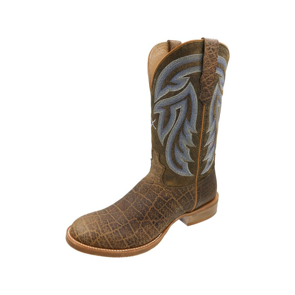 Men's Rancher Cowboy Boot Saddle Elephant Print