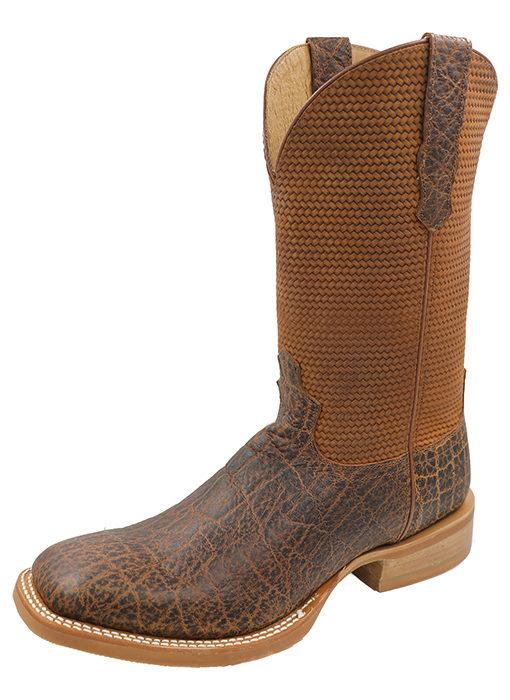 Men's Rancher Boot Cognac Elephant Print