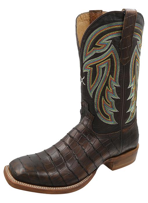 Men's Rancher Boot Chocolate Gator Print