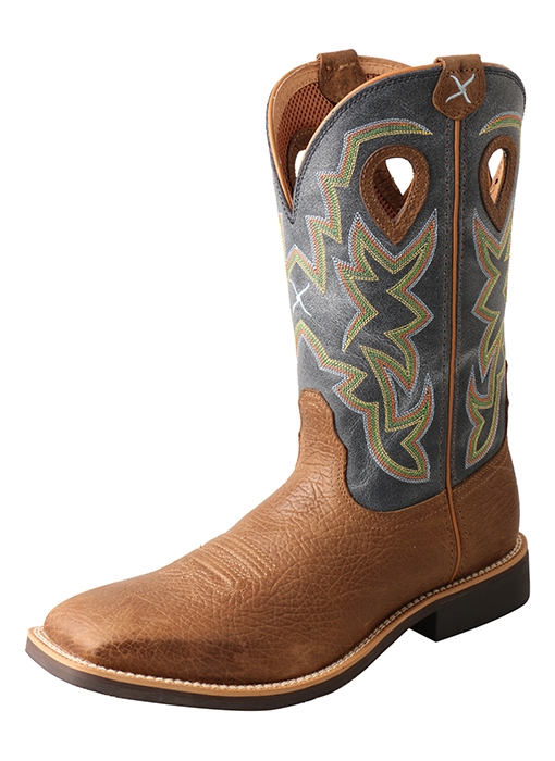 Men's Top Hand Boot Peanut Distressed/Navy