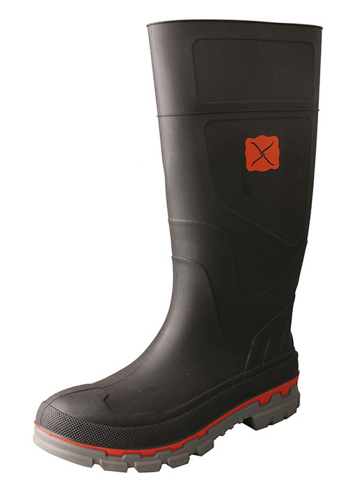 Men's Mud Boot – Black Steel Toe