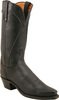Womens Lucchese 1883 Black Burnished Boot