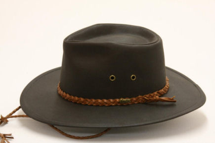 Outback Oilskin Grizzly Hat Dark Brown
