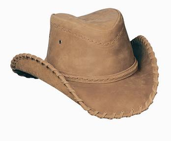 Sydney Leather Hat in Tan