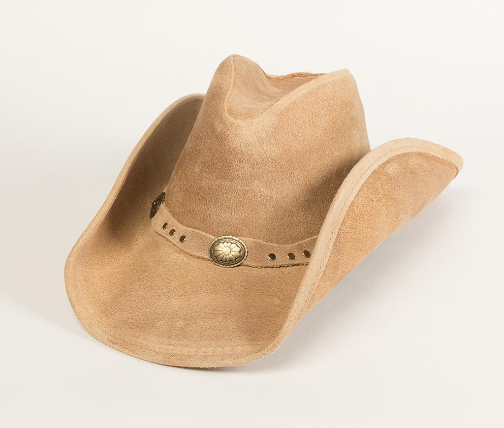Minnetonka Silverton Dude Hat Tan Ruff Leather