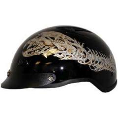 Vented Alien Half Helmet