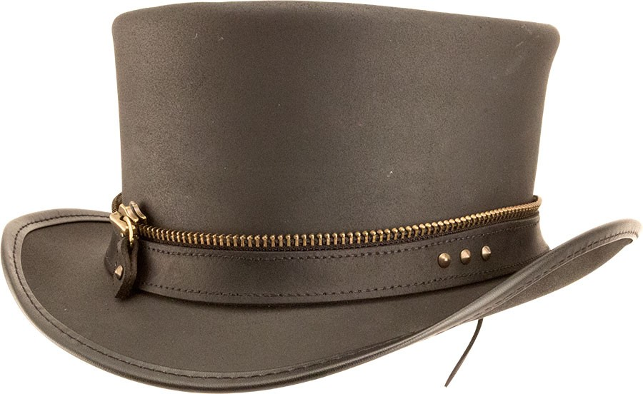Marlow Leather Hat with Napa Band