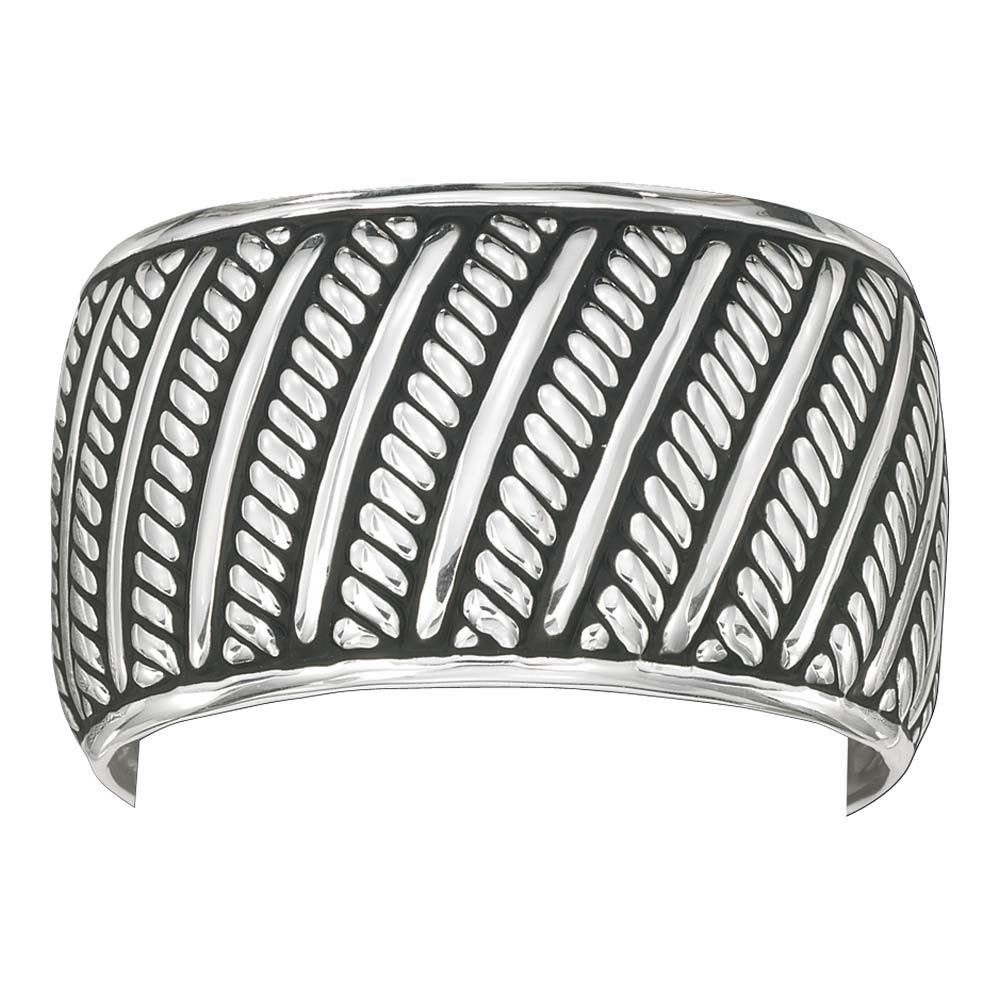Silver Antiqued Rope and Rails (BC1046)