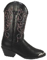 Smoky Boots Black Western Childrens Boots