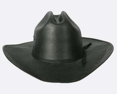 Kids Canvas Black Straw Hat