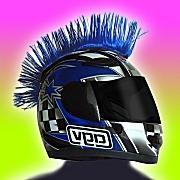 Blue Motorcycle Helmet Mohawk