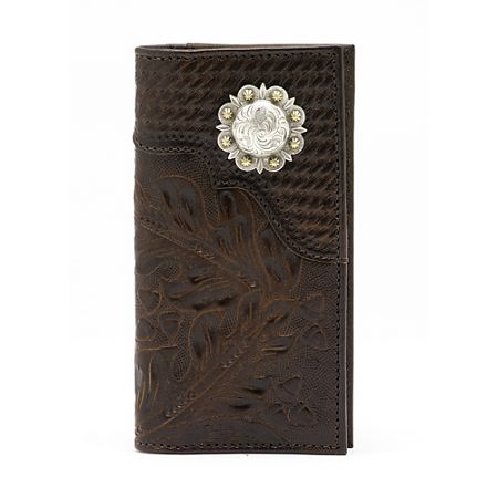 American West Mens Chocolate Brown Rodeo Wallet