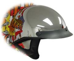 Chrome Shorty Helmet