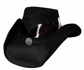 Bullhide Comanche Leather Hat in Black